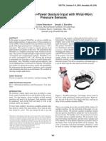 WristFlex Low Power Gesture Input With Wrist Worn Pressure Sensors