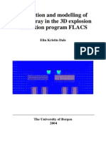 Simulation and Modelling of Water Spray in the 3D Explosion
