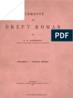 Elemente de Drept Roman Vol. 1 - S.G.loginescu