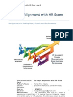 Strategic Alignment With HR Scorecare -Reg No. 1528944