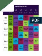 unit schedule color