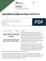 India Skills Development Report 2014 by CII