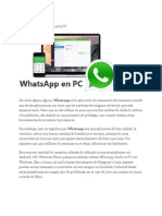 Instalar y Usar Whatsapp en La PC
