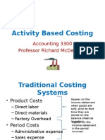 Activity Based Costing and Just in Time