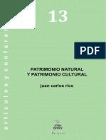 13. Patrimonio Natural y Patrimonio Cultural