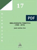 Bibliografía Temática 1986 - 2015