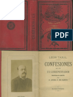 Confesiones de Un Ex-librepensador Leo Taxil 1887