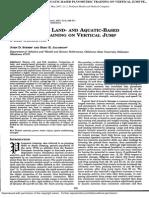 Comparison of Land- And Aquatic-based Plyometric Training on Vertical Jump Pe