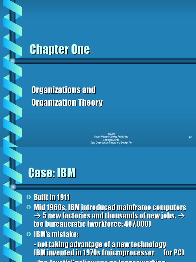 Bab 1 Organizations And Organization Theory Modified Ppt Organizational Behavior Strategic Management