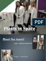 1 SHU UK Plants in Space