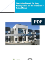 Direct Adhered Ceramic Tile, Stone, and Thin Brick Facades Technical Design Manual