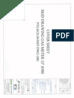 Ptg-kcs-30 Inst Dwg-1001 Skid General Arrangement Drawing Gas Meter From Ptg