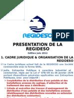 Presentation de La Societe REGIDESO Juin 2012
