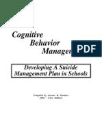 CBT-Suicide Management Plan in Schools