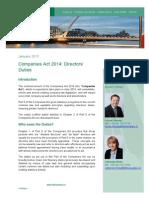 Companies Act 2014 Directors Duties