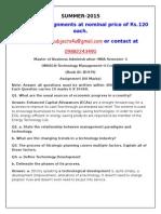 OM0018–Technology Management