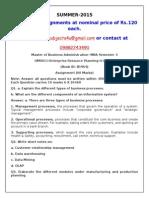 OM0011–Enterprise Resource Planning