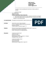 student resume example  1