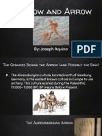 prehistoric tools and development- the bow and arrow