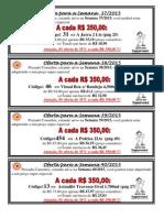 OfertaS SemanaS 37-38-39 e 40 2015
