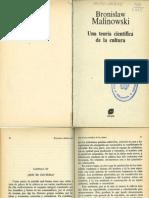 Una Teoria cientifica de la cultura . Bronislaw Malinowski-1984