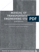 Manual of Transportation Engineering Studies