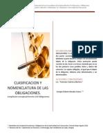 OBLIGACIONES CLASIFICACION