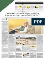El Fenómeno del Niño en la Historia del Perú. Entrevista a Lizardo Seiner