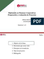 Sesion Diplomado en Finanzas Corporativas Preparación y evaluación de Proyectos 1-2