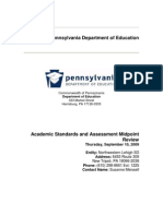 Academic Standards and Assessment