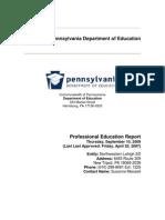 Professional Education Plan