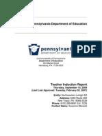 Teacher Induction Plan