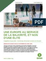 « Une Europe au service de la majorité, et non d'une élite »
