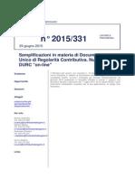 Nuovo DURC Telematico Giugno 2015