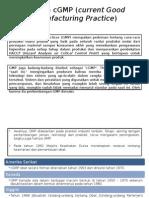 Sejarah CGMP (Current Good Manufacturing Practice)