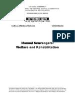 Manual Scavengers Welfare and Rehabilitation
