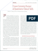 Qualititative and Quantitaative Assessment of Lower Extremity Posture