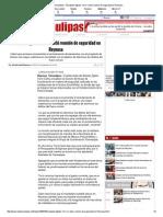 09-07-2015 Encabeza Egidio Torre Cantú Reunión de Seguridad en Reynosa