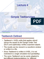Lecture4 - VHDL - Simple Testbenches