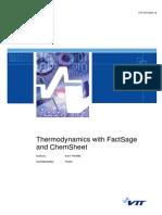 Thermodynamics With FactSageand ChemSheeta