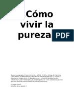 Como Vivir La Pureza- Cuarta Ed