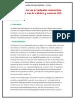 Descripción de Los Principales Elementos Relacionados Con La Calidad y Normas ISO 9000