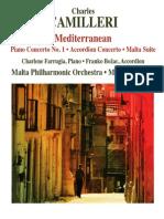 "CAMILLERI, C.- Piano Concerto No. 1, ""Mediterranean"" : Accordion Concerto : Malta Suite (Farrugia, Božac, Malta Philharmonic, Vaupotić)"