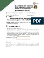 Determinación de La Densidad Para Partículas Mayores a La Malla Nº4 (Gravas)