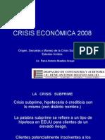 Crisis de los Creditos Suprime o crisis inmobiliaria del 2008