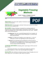 Vegetable Freezing Methods