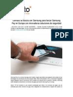 Gemalto Se Asocia Con Samsung Para Lanzar Samsung Pay en Europa Con Innovadoras Soluciones de Seguridad