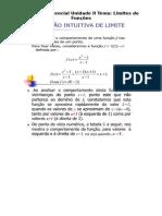 Cálculo Diferencial Noção Intuitiva de Limites