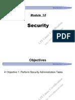 Module 10 - Security