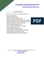 Escopo de Serviço - Projeto Hidrossanitário